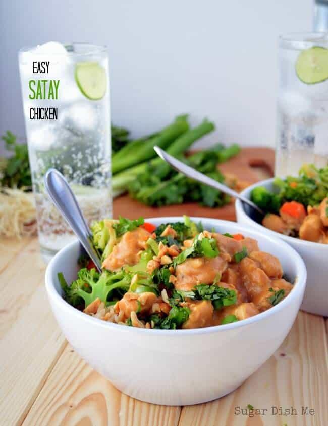 Easy Satay Chicken | Sugar Dish Me via lemons for lulu