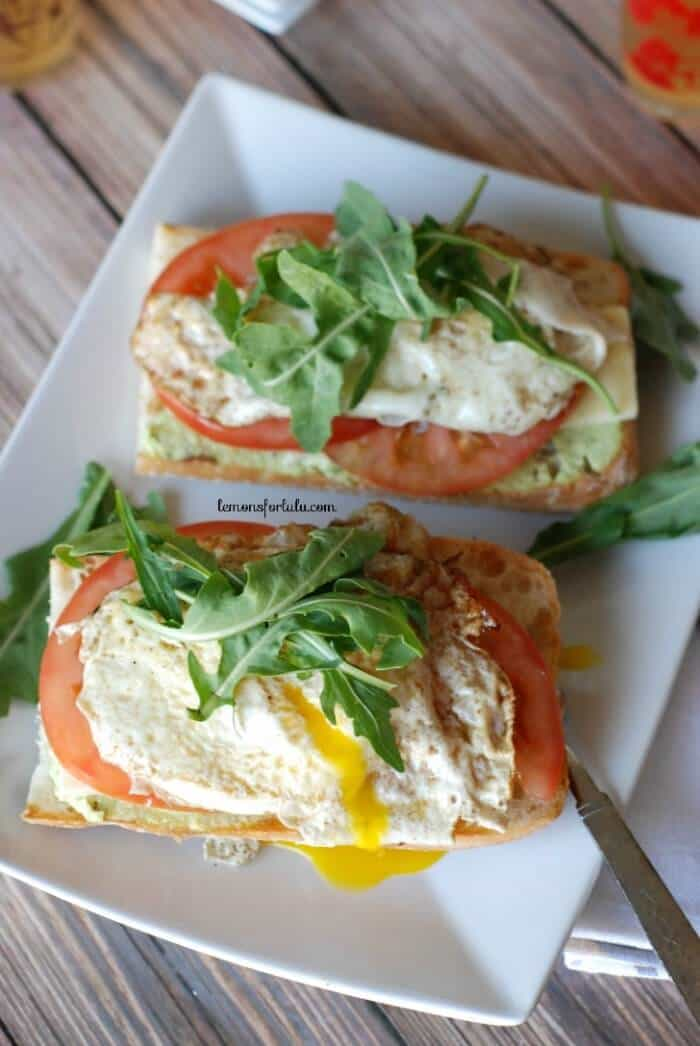 Open Faced Fried Egg and Edamame Sandwich 2