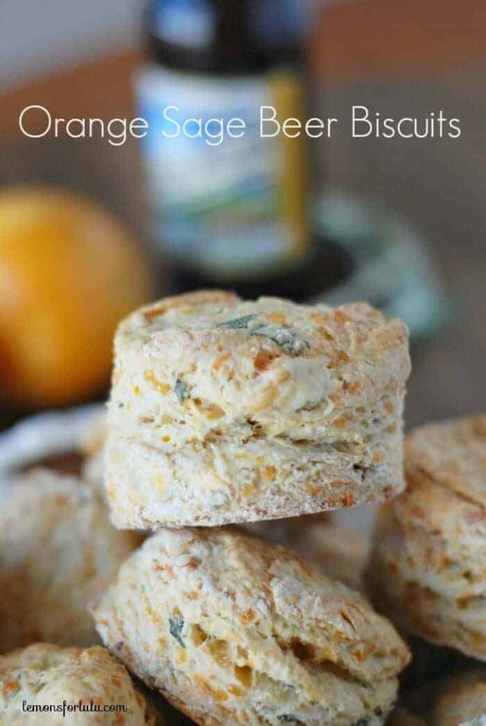 Intensely orange biscuits made with fresh sage and beer www.lemonsforlulu.com