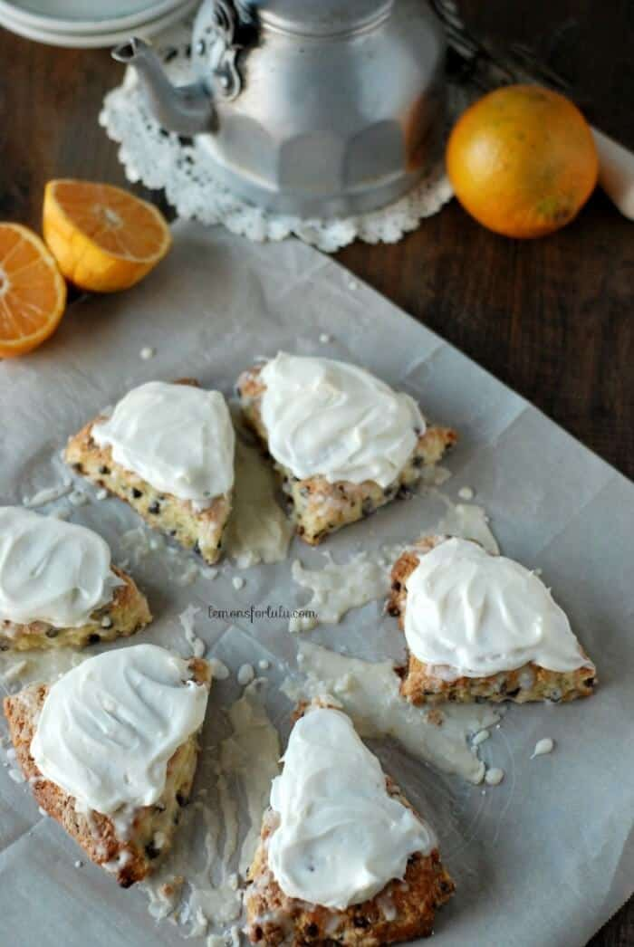 Orange Scented Chocolate Chips Scones | lemonsforlulu.com