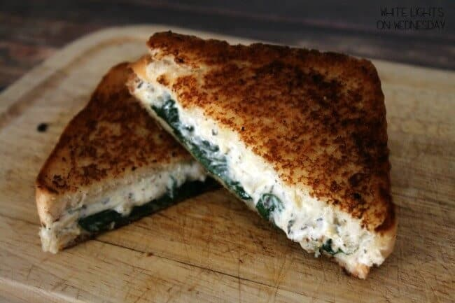Ricotta Spinach Grilled Cheese via White Lights on Wednesday; Meal Plans Made Simple