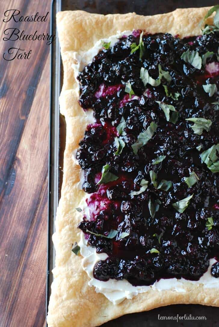 Roasted Blueberry Tart