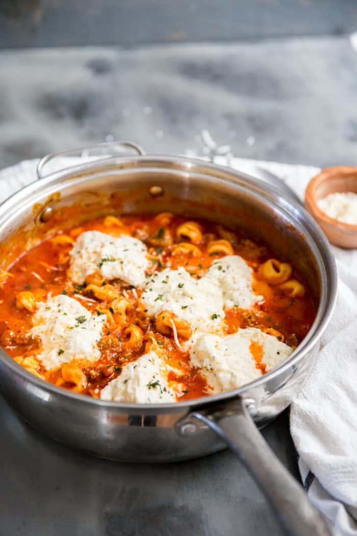 skillet lasagna with ricotta