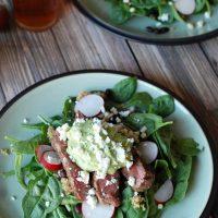 Steak Salad with Avocado Dressing