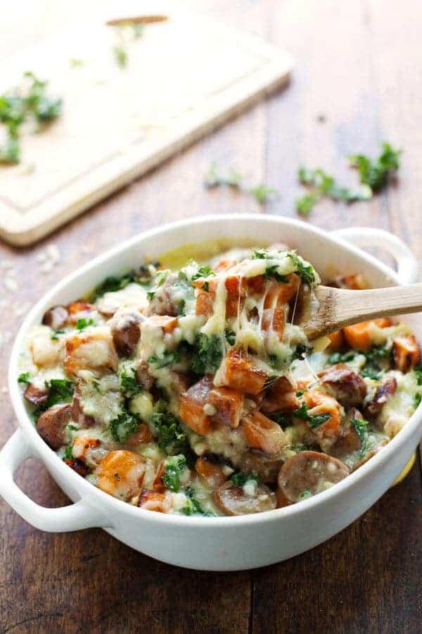 Sweet Potato Kale Bake Pinch of Yum via Lemon for Lulu