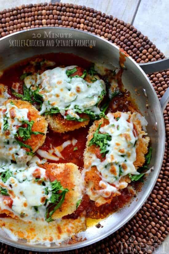 20-minute-skillet-chicken-spinach-parmesan