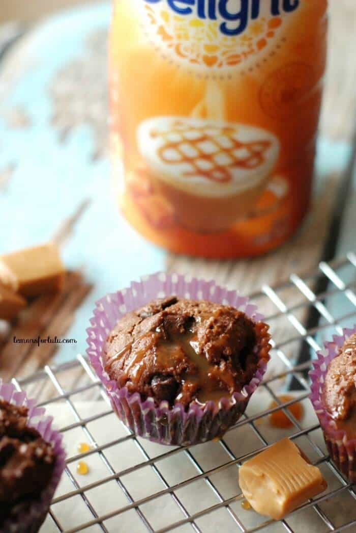 Caramel macchiato chocolate muffins www.lemonsforlulu.com