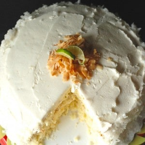 Coconut Key Lime Cake | lemonsforlulu.com