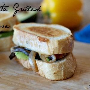 A spicy kicked up Fajita grilled cheese sandwich! www.lemonsforlulu.com