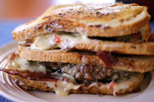 Pimento Cheese and Bacon Patty Melt