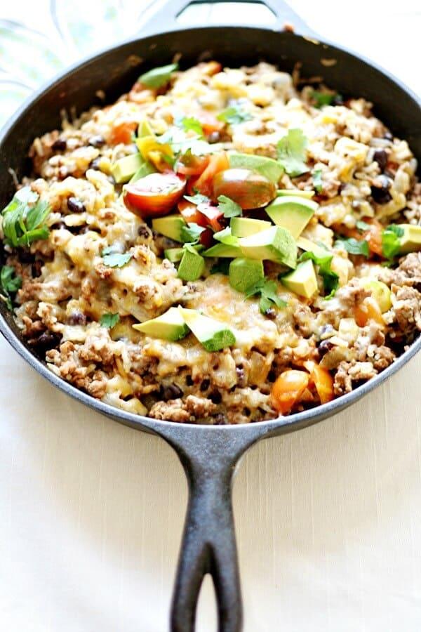 Mexican Skillet Dinner via Heather's French Press; Meal Plans Made Simple