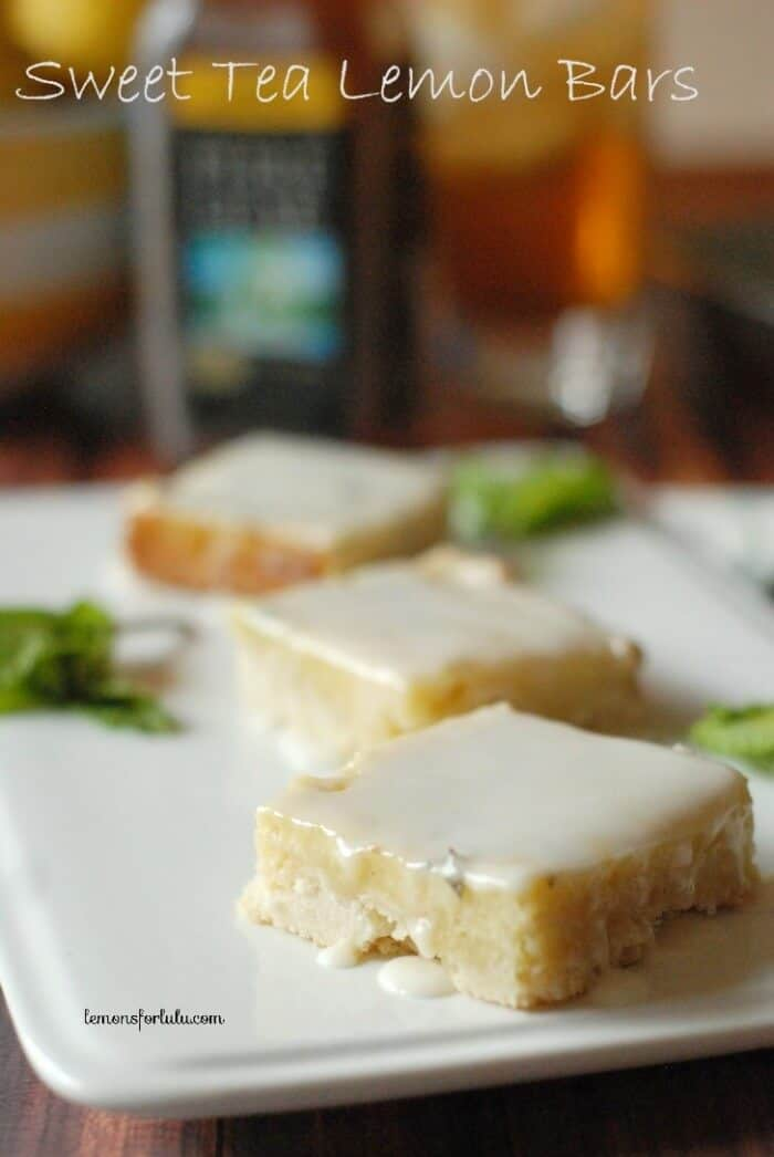 Sweet Tea Lemon Bars