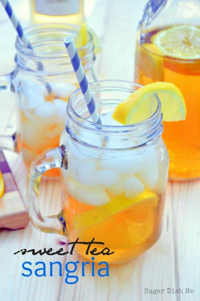 Sweet Tea Sangria on Sugar Dish Me