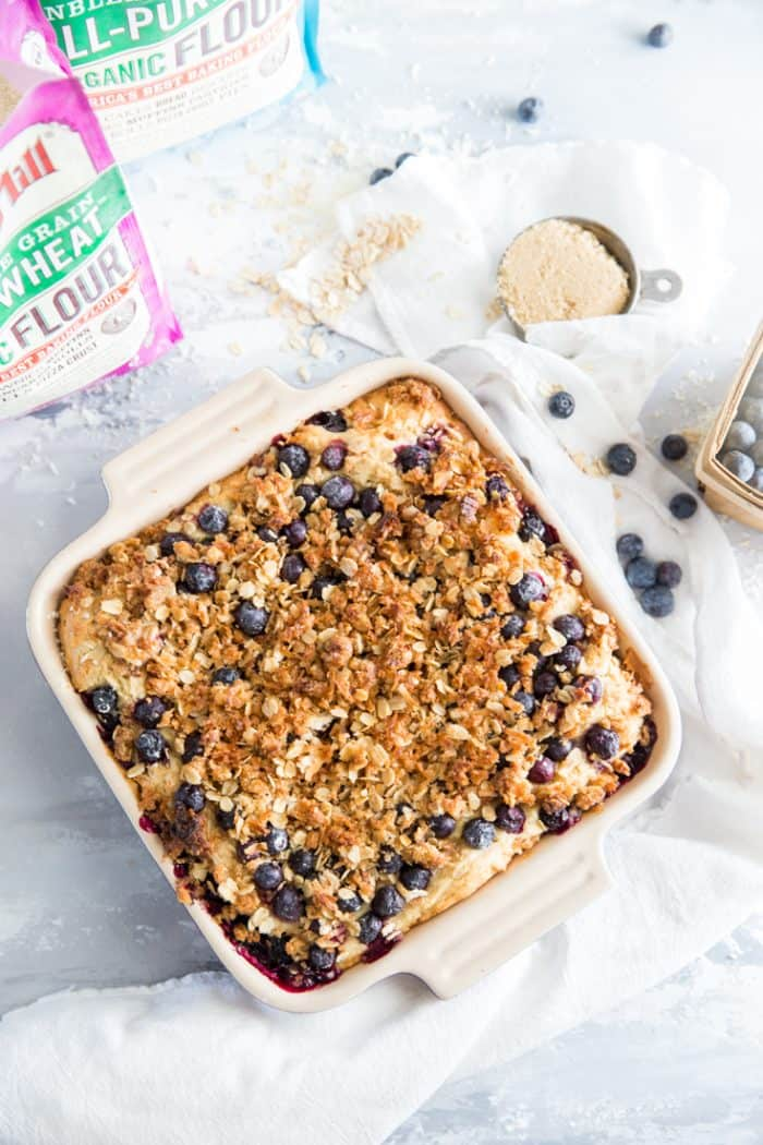 Blueberry coffee cake whole