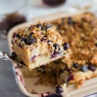 Blueberry Coffee Cake Recipe with Coconut Streusel