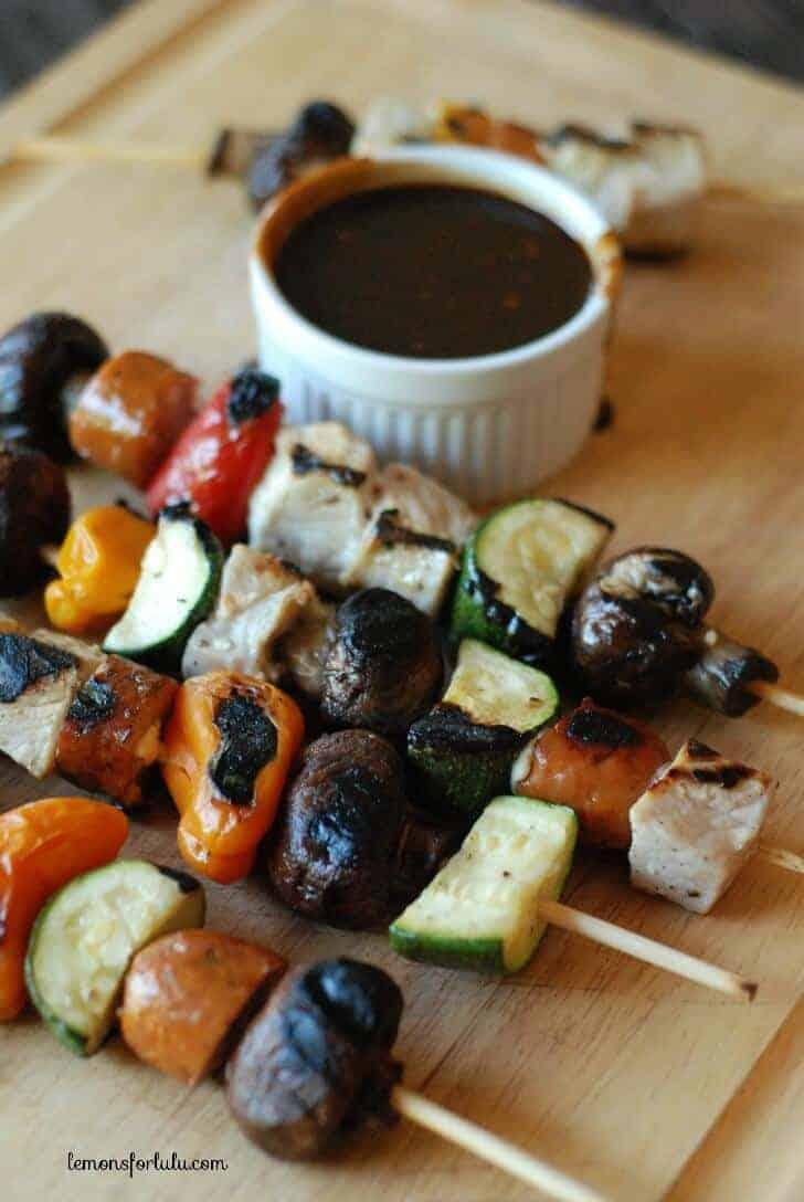 PORK KABOBS WITH BALSAMIC BBQ SAUCE