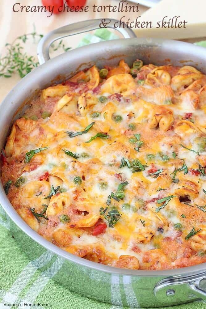 Creamy Tortellini Chicken Skillet