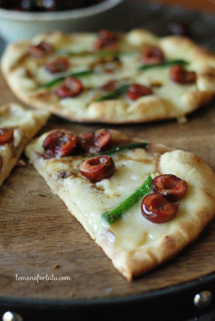 Grilled Brie & Cherry Pizza 3