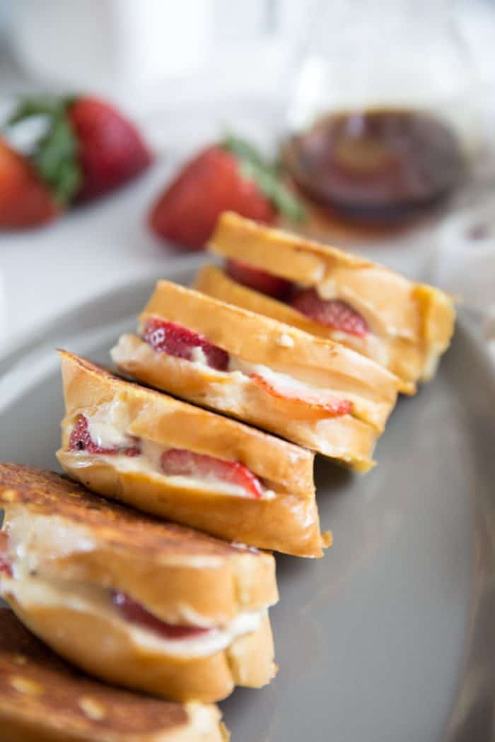 Stuffed French toast slices