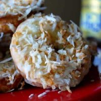 Baked Toasted Coconut Donuts