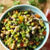 Salad with Black Beans and Edamame