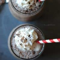 Frozen Hot Chocolate is made with a special ingredient which makes it creamy and chocolaty! www.lemonsforlulu.com