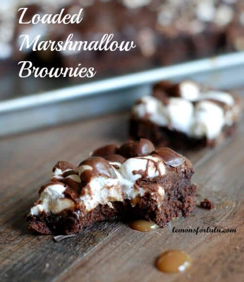 Loaded Marshmallow Brownies 1