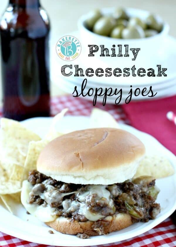 Philly Cheesesteak Sloppy Joes via Bakerette on Meal Plans Made Simple