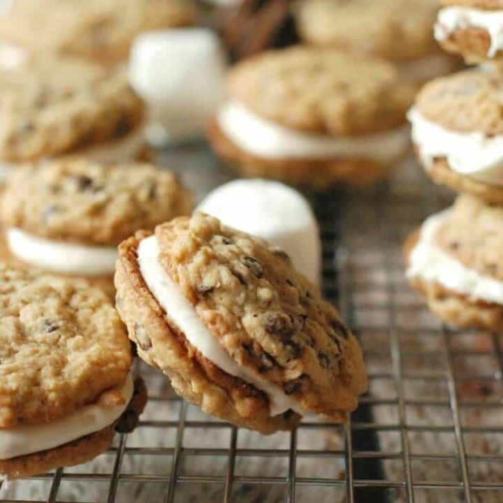 S'mores Oatmeal Cream Pies