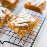 Apple Carrot Cake Bars