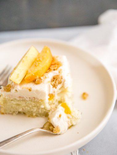 peach cake slice