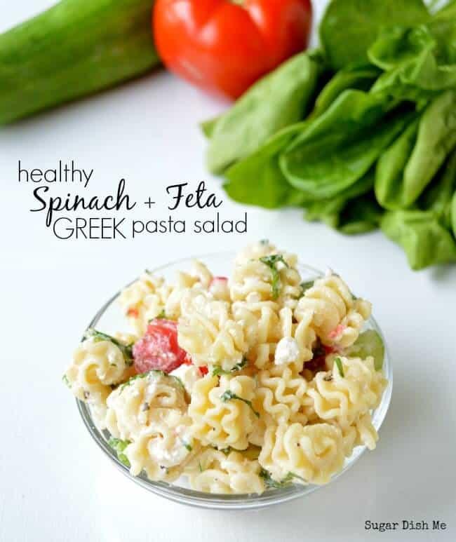 Spinach-and-Feta-Pasta-Salad
