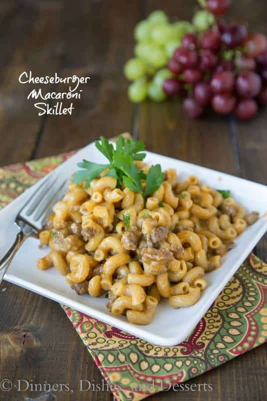 Cheeseburger Macaroni Skillet via Dinners Dishes & Desserts on Meal Plans Made Simple