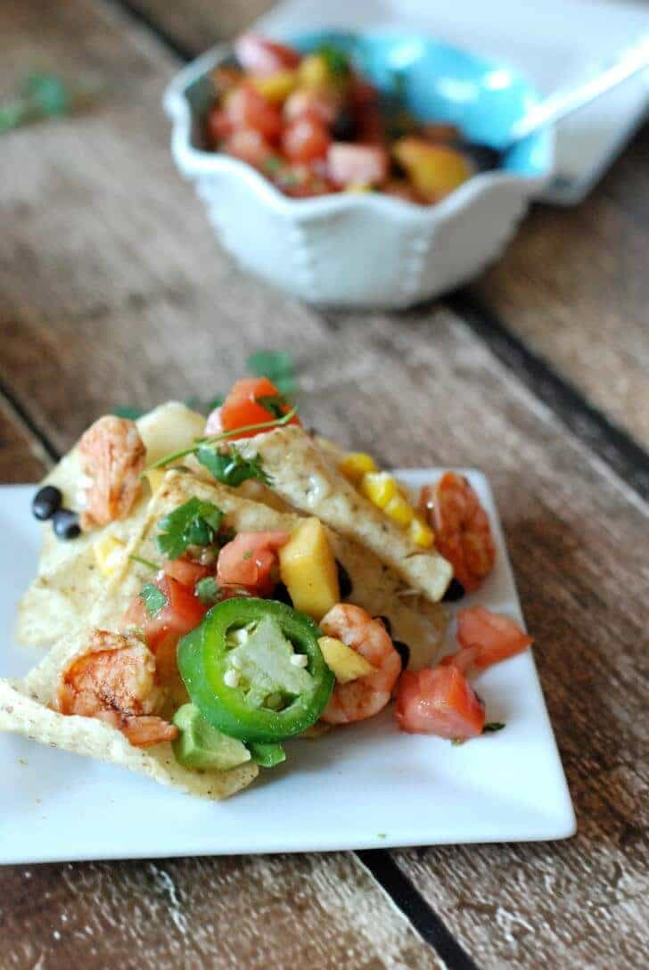 Grilled Shrimp Nachos Pic 1