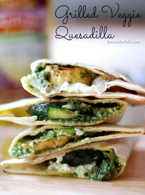 Grilled Veggie Quesadilla   lemonsforlulu.com