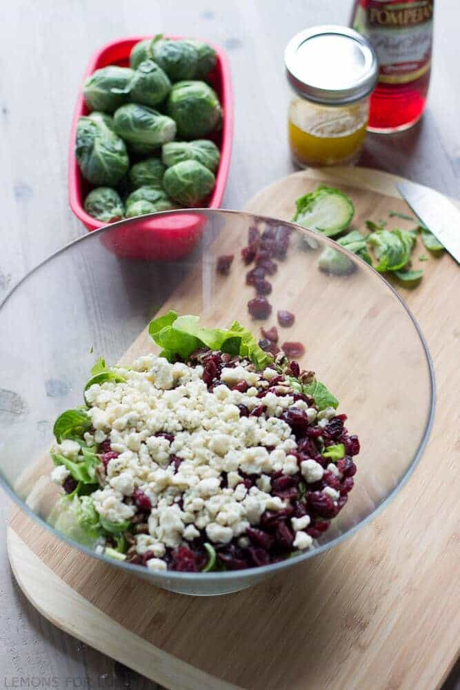 Brussels Sprouts Salad with Shallot Vinaigrette {Lemons for Lulu}
