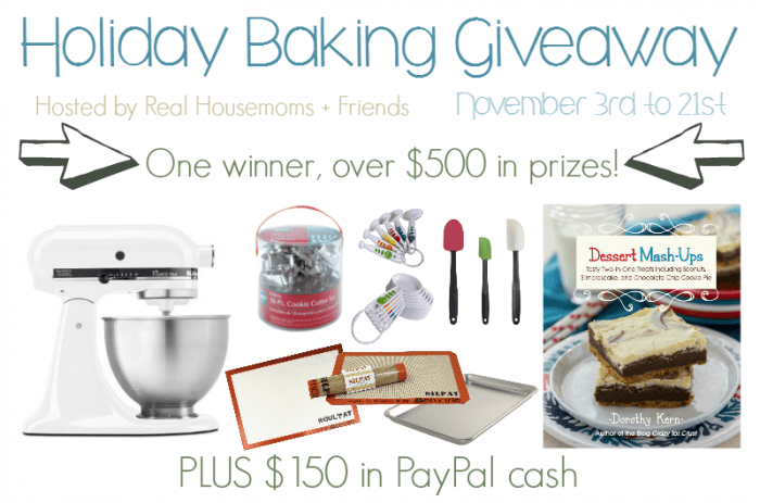 Holiday Baking Giveaway Horizontal Graphic