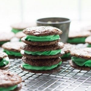 Mint Chocolate Cookies-3