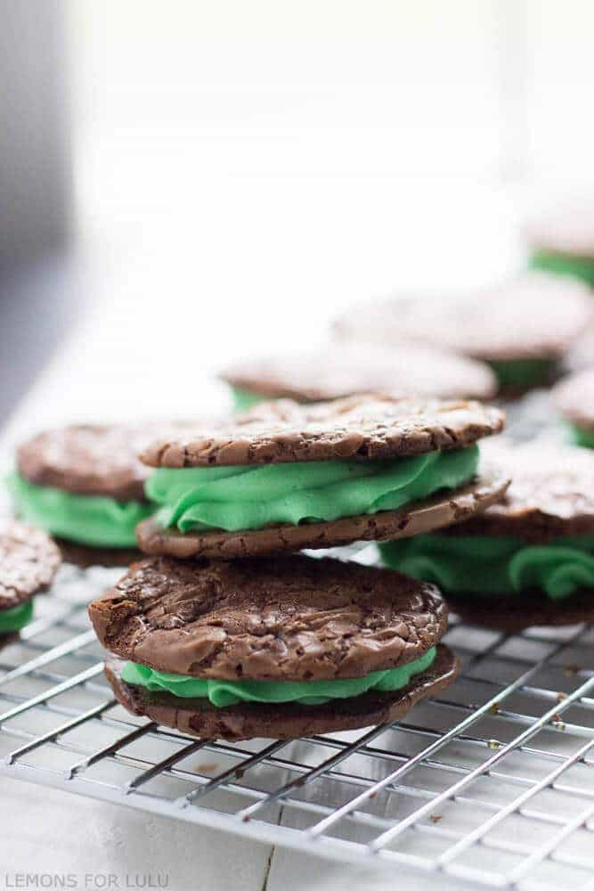 These mint chocolate cookies are made are rich and delicious with a ...