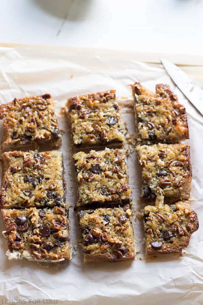 Coconut Pecan Pie Bars - LemonsforLulu.com