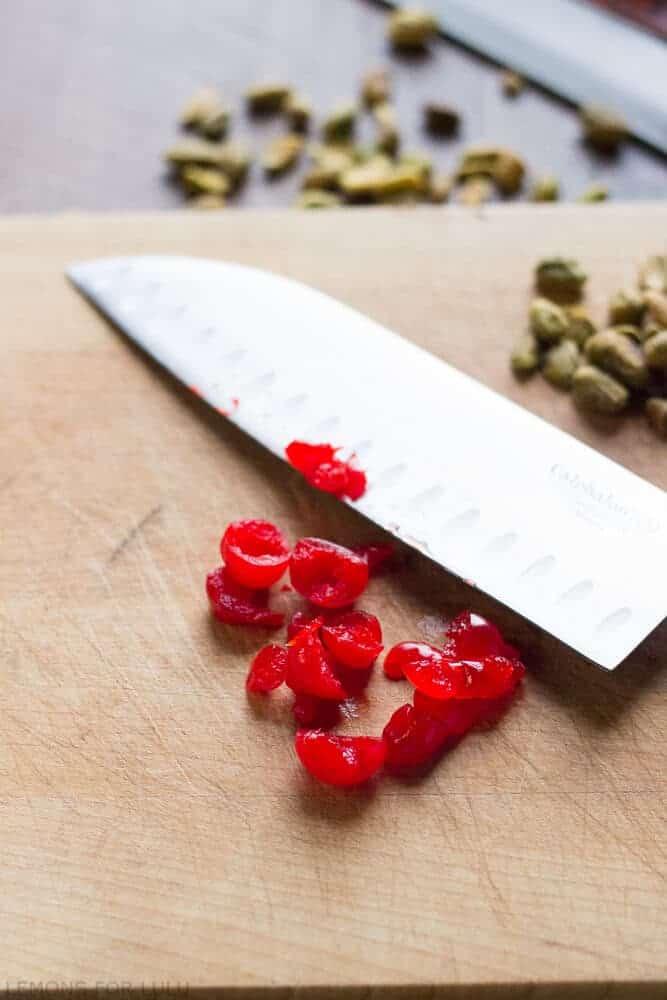 Chopped marischino cherries