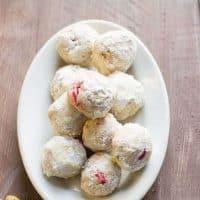 Cherry Pistachio Snowball Cookies