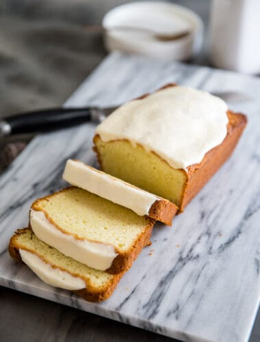 cream cheese pound cake with eggnog flavor