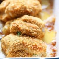 This chicken kiev is coated in a perfectly seasoned coating then wrapped around herbed butter spread and baked up to absolute perfection! lemonsforlulu.com