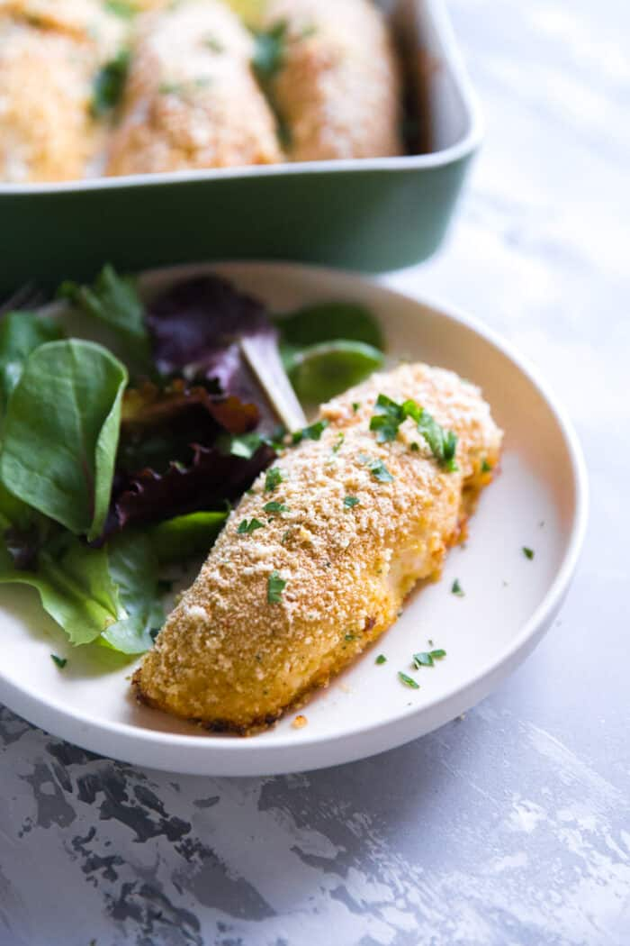 Chicken Kiev plated