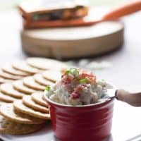 Horseradish gives this dip a little kick! Crispy bacon and creamy white cheddar cheese make it positevly addicting! lemonsforlulu.com