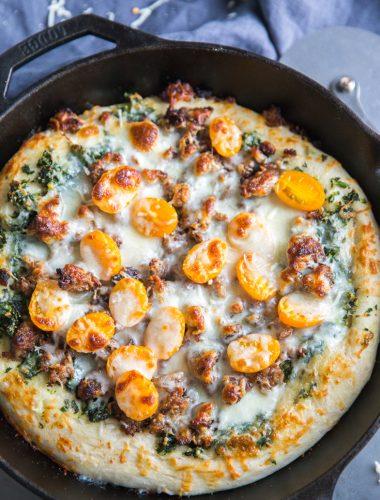 Sausage Pizza close up