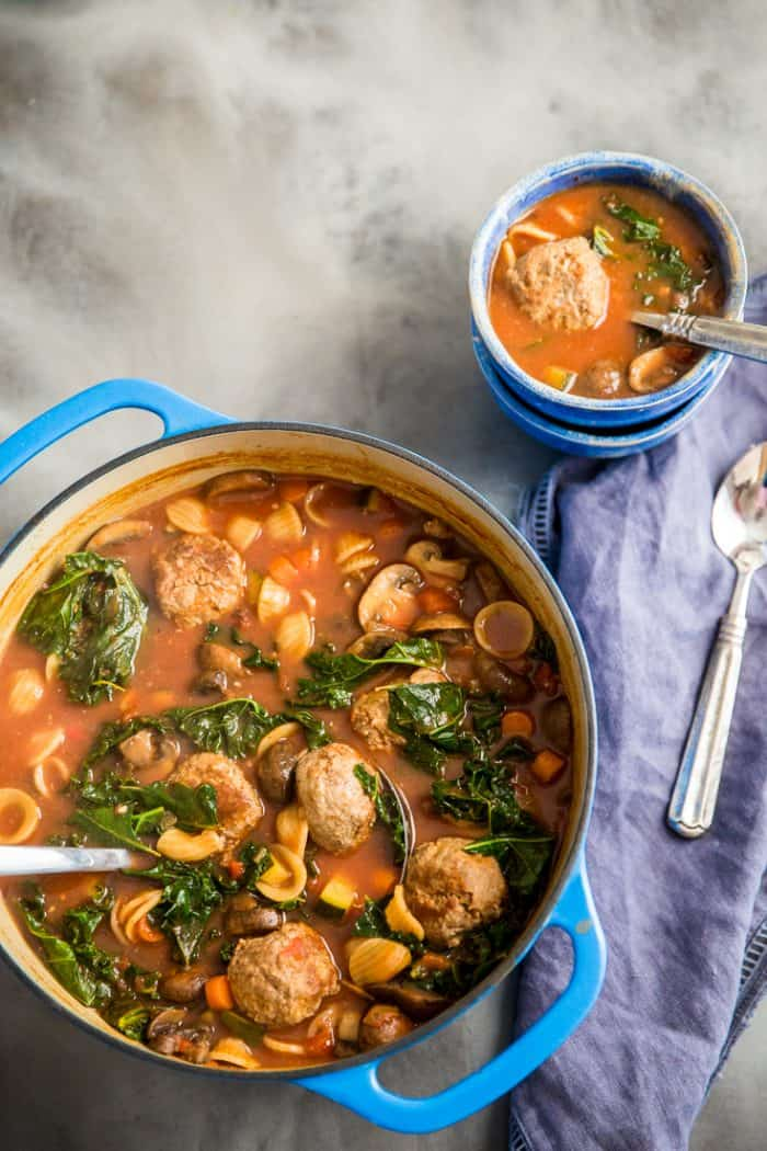 vegetable soup recipe with a bowl on the side