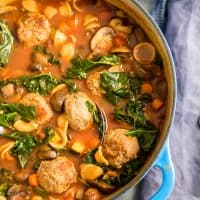 Easy Vegetable Soup Recipe with Meatballs