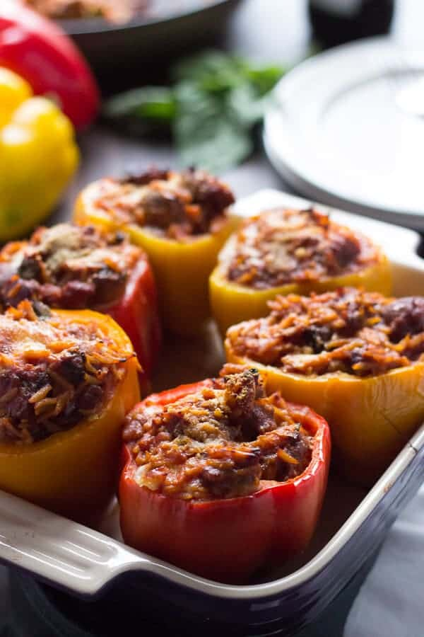 Italian Style Stuffed Peppers {Lemons for Lulu}